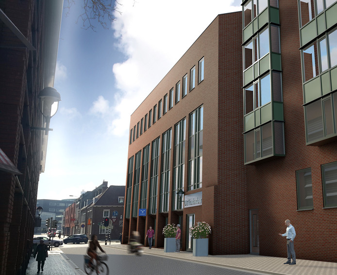 Ontwikkelmaatschappij Gebri bouwt de eerste tot en met de derde verdieping van het voormalige ABN AMRO-kantoor aan de Burgemeester van Hasseltstraat in Bergen op Zoom om tot een appartementencomplex met 12 woningen. Ze zijn begin 2018 gereed.