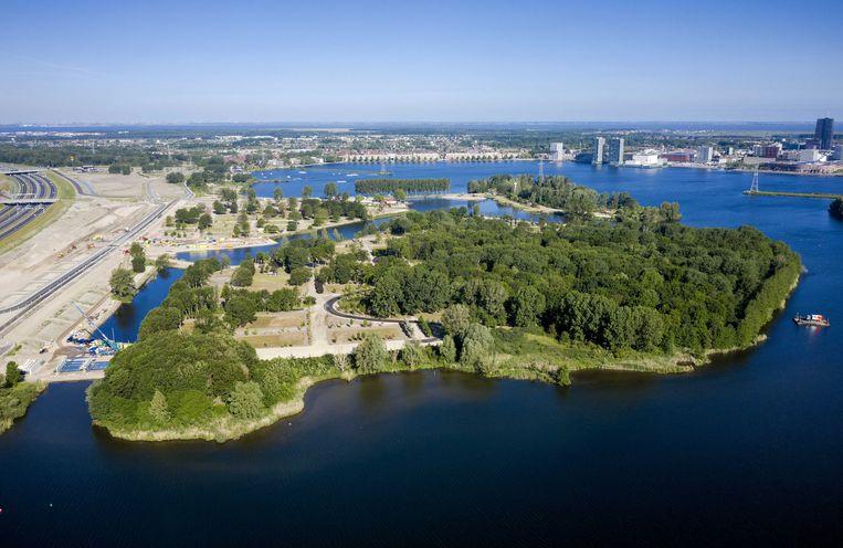 Bovenaanzicht van de plek waar de Floriade 2022 plaats moet vinden. Beeld EPA