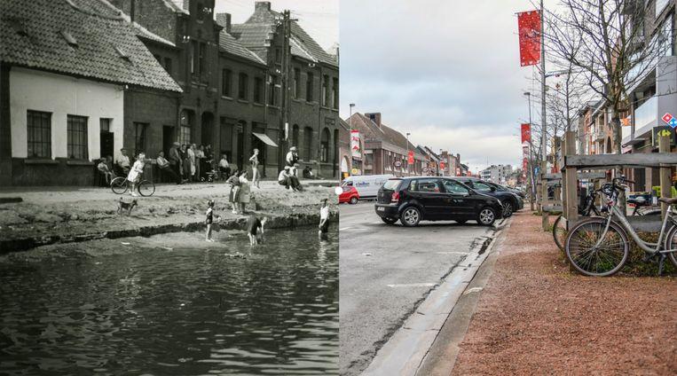 De Oude Vest in Dendermonde vroeger en nu.