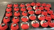Rode Neuzencupcakes en -donuts in recordtijd verkocht bij bakkerij Vanderveken