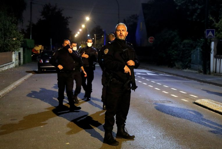 Politie op de plek van het incident.  Beeld REUTERS
