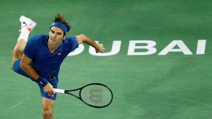 Roger Federer steekt in Dubai honderdste ATP-titel op zak