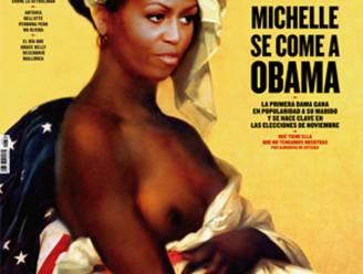 Ophef om Michelle Obama als 'naakte slavin' op Spaanse cover