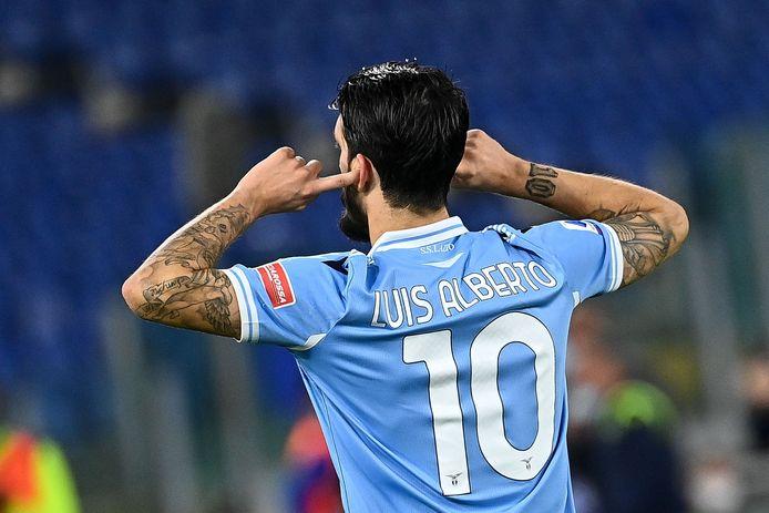 Luis Alberto opende de score namens Lazio in het competitieduel met Bologna.