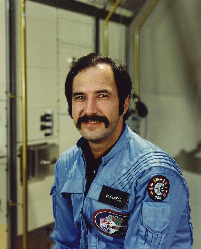 Wubbo Ockels als astronaut aan boord van de Challenger Beeld ANP