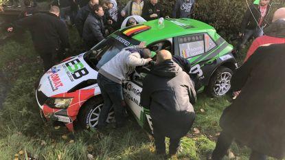 Copiloot komt om het leven bij zwaar ongeval in Condroz Rally