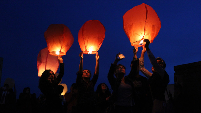 Wensballonnen, foto ter illustratie
