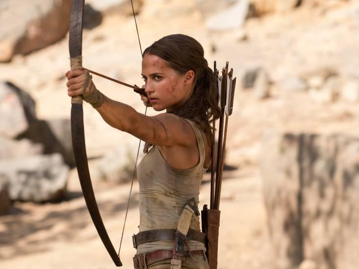 De nieuwe Lara Croft is kwetsbaarder maar ook veel echter