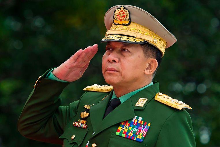 De bevelhebber van het leger van Myanmar, Min Aung Hlaing, mag de VS niet meer in.