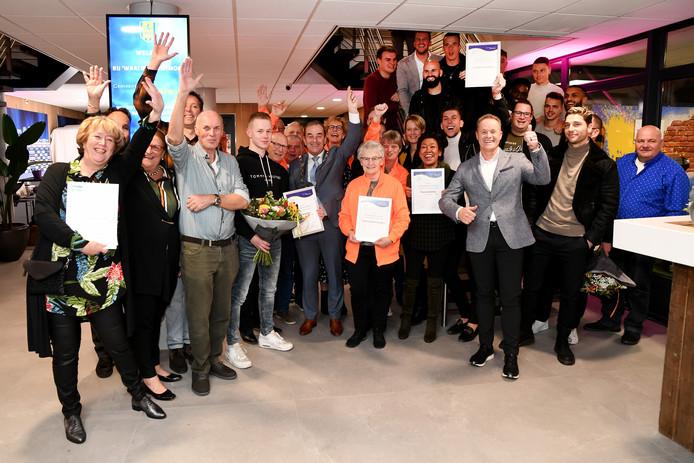 De prijswinnaars van Waalwijk Ontmoet.