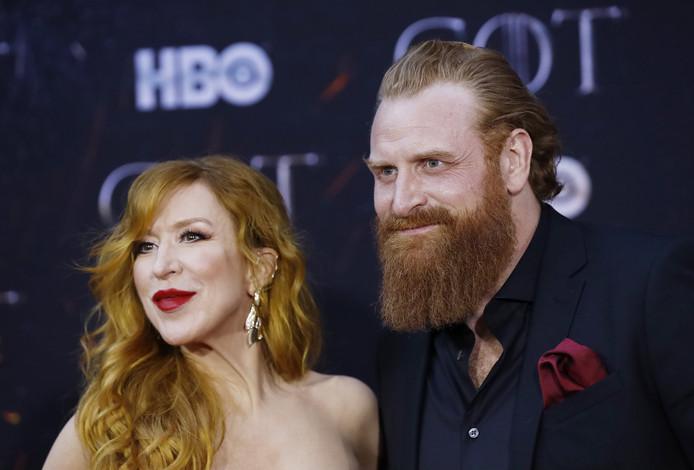 Kristofer Hivju et son épouse Gry Molvær Hivju.