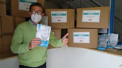 Technologiebedrijf Aukey schenkt 10.000 mondmaskers aan stad Waregem