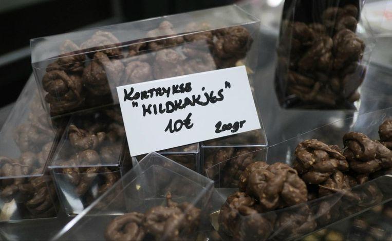 De Kortrijkse wildkakjes kosten 10 euro, voor 200 gram.