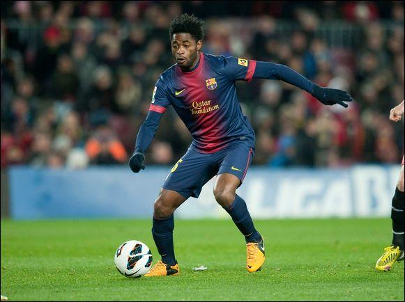 Alex Son in het shirt van Barcelona