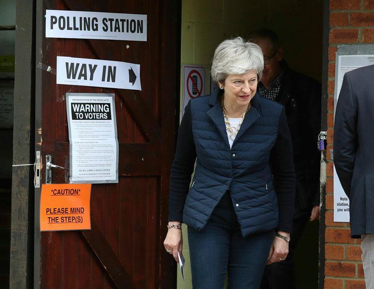 Ook premier Theresa May ging vandaag stemmen.