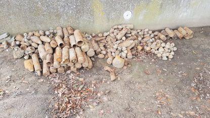 """50 obussen en granaten opgegraven op werf: """"Na 100 jaar nog steeds gevaarlijk"""""""