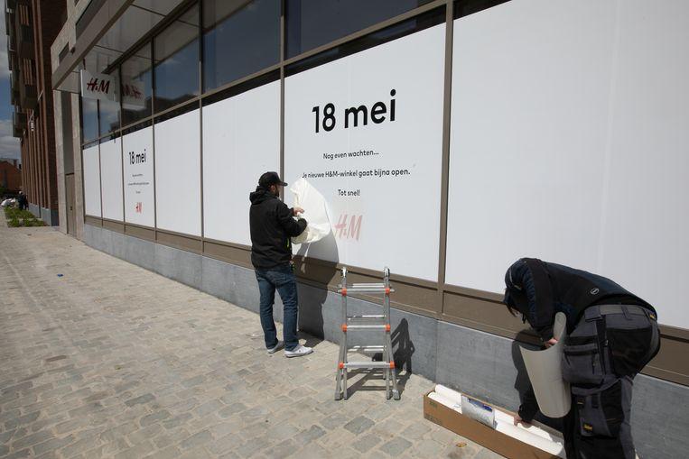 De eerste winkeldag van Quartier Bleu.
