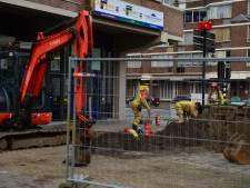 Gaslek in centrum Helmond door graafwerkzaamheden