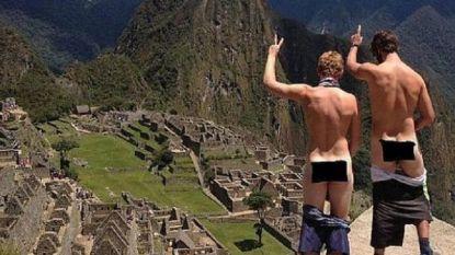Drie Europese toeristen uit Inca-stad Machu Picchu gestuurd om blote billen