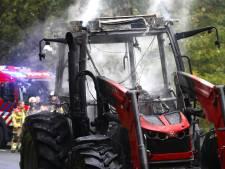 Tractor vat vlam aan Ruwaardsingel in Oss