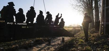 Zeven silhouetten herinneren aan neergestorte bommenwerper