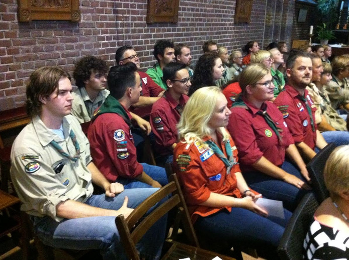 Ook de scoutinggroep Aalst-Waalre was aanwezig.