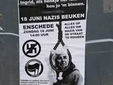 Posters in binnenstad Enschede roepen op tot 'Nazis beuken'
