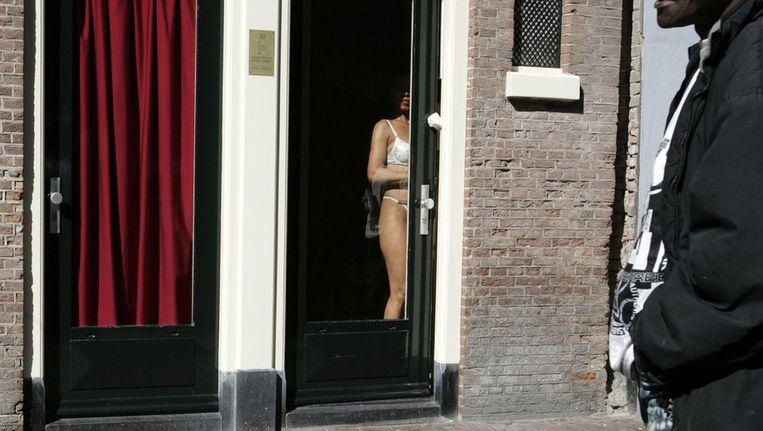 Raamprositutie in Amsterdam. Beeld ANP