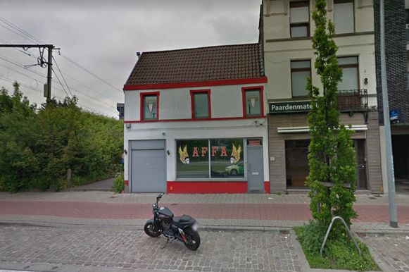 Het clublokaal van de Hells Angels in Gentbrugge.