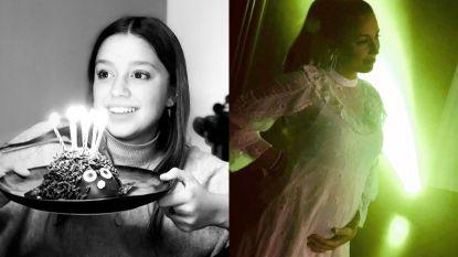 SHOWBITS. Zita Wauters blaast kaarsjes uit en Natalia toont trots haar bollend buikje