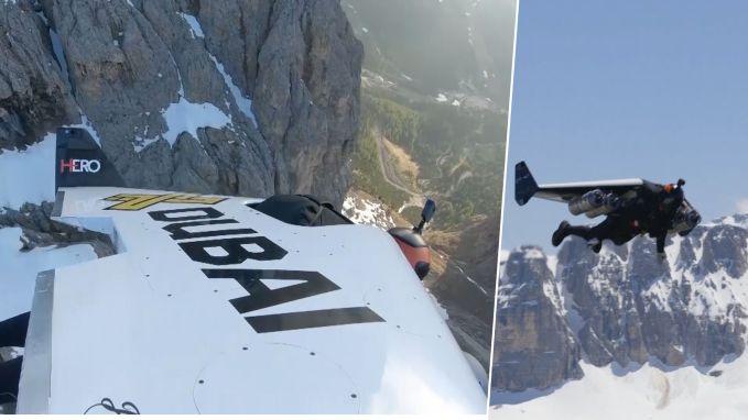 Vlieg met 'Jetman' met rotvaart mee door Dolomieten