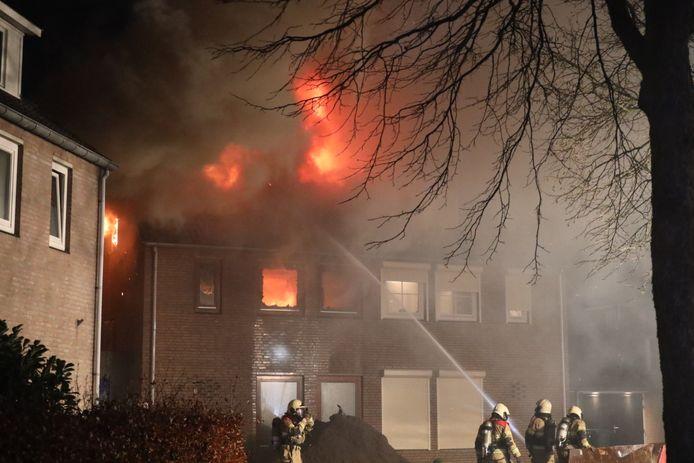 Uitslaande brand in Vlijmen.
