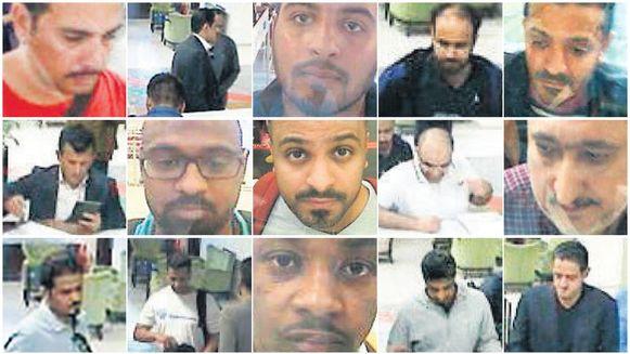 Vijftien van de in totaal achttien gearresteerde verdachten van de moord op Jamal Khashoggi.