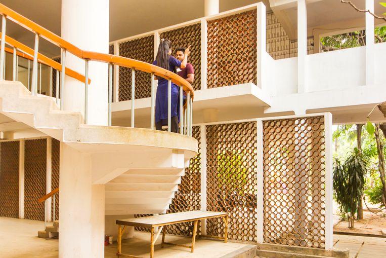 De Faculteit der Schone Kunsten werd ontworpen door de architect Muzharul Islam. Beeld null