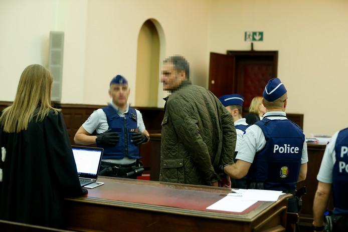 Marc B. in het Paleis van Justitie in Brussel.