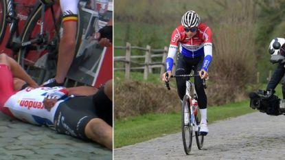 """VIDEO. Van der Poel verkent daags na stevige valpartij parcours van Ronde van Vlaanderen: """"Mirakel? Een beetje"""""""