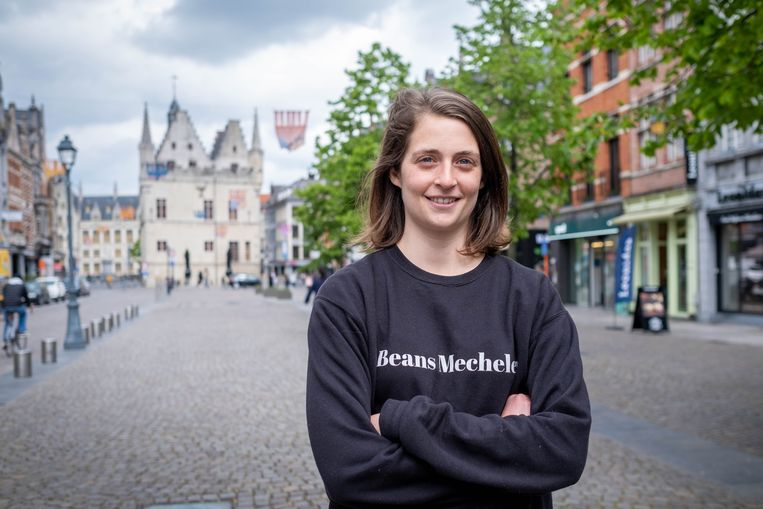 Pia Indigne lanceerde een oproep om alleen maarl Belgische muziek te spelen in de Mechelse winkelstraten.