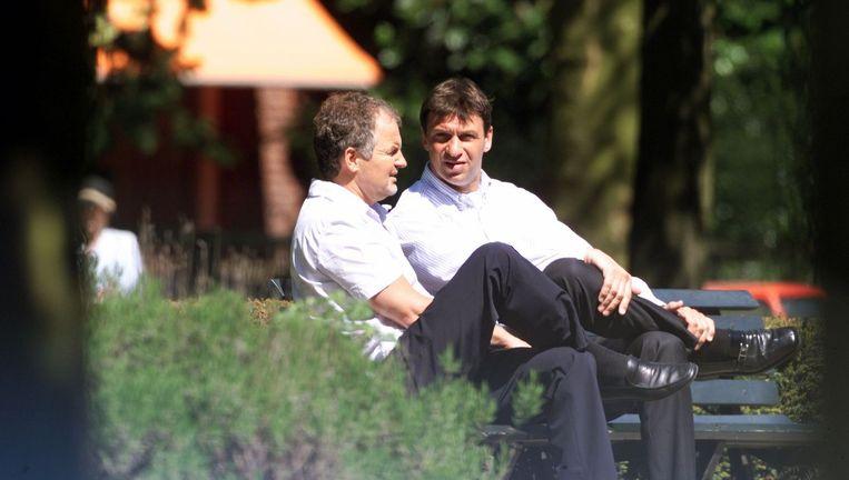 Willem Endstra en Willem Holleeder. Beeld ANP