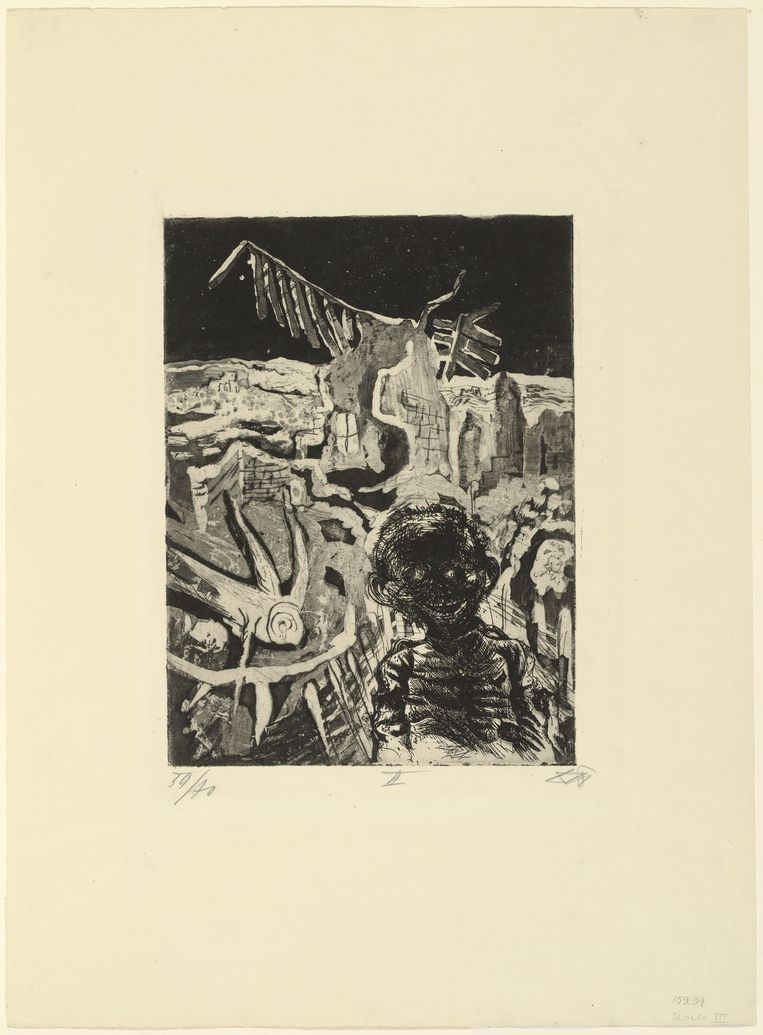 Otto Dix, Nocturnal Encounter with a Lunatic, 1924. Beeld Collectie MoMA