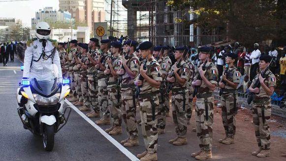 Franse militairen in Mali. Ze krijgen binnenkort versterking van collega's uit Duitsland en Nederland.