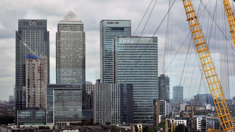 Het Londense zakencentrum Canary Wharf. Beeld anp