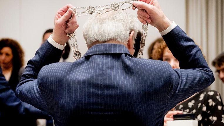 Van Aartsen in februari na zijn laatste raadsvergadering als burgemeester van Den Haag. Van die stad was hij negen jaar burgemeester. Beeld anp