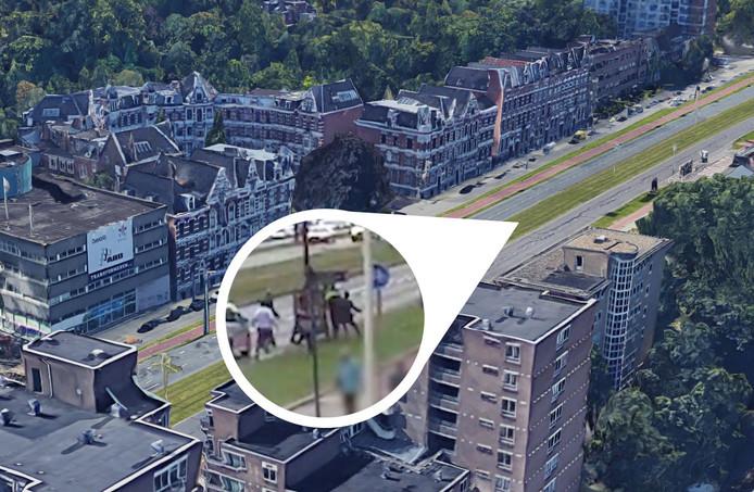 Bij een trouwstoet in Rotterdam werd een politieagent neergeslagen.