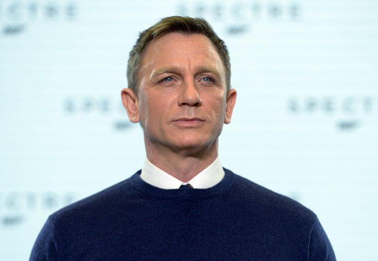 De Britse acteur Daniel Graig poseert voor de nieuwe James Bond-film 'Spectre'. Beeld epa