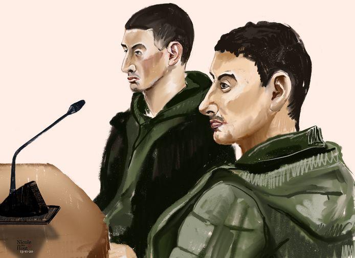 De broers W. V. (25) en Y. V. (23) moeten wat justitie betreft achttien maanden de cel in.