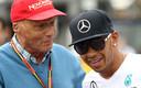 Niki Lauda met Lewis Hamilton.