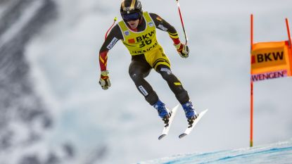 Armand Marchant finisht niet in eerste run in Wereldbeker Wengen