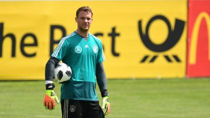 """Manuel Neuer staat tegen Oostenrijk in doel van Mannschaft: """"Het verloopt naar wens"""""""