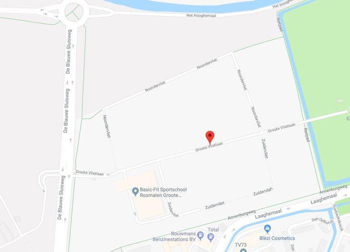 De weg Groote Vliet loopt nu nog dwars door het gelijknamige bedrijventerrein, maar wordt dus afgekapt.
