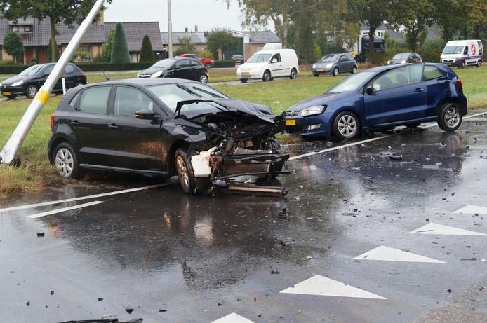 De ravage was groot na het ongeluk.